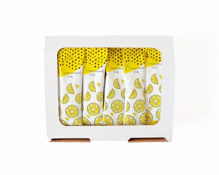 Лимонний сік в стіках