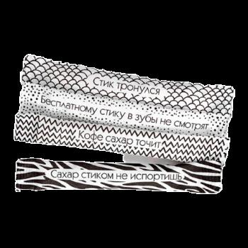 Сахар Черно-белый «Поговорки» в стиках
